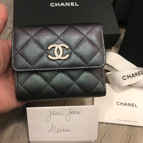 CHANEL Handbags - Chanel Small Flap Wallet Iridescent Black